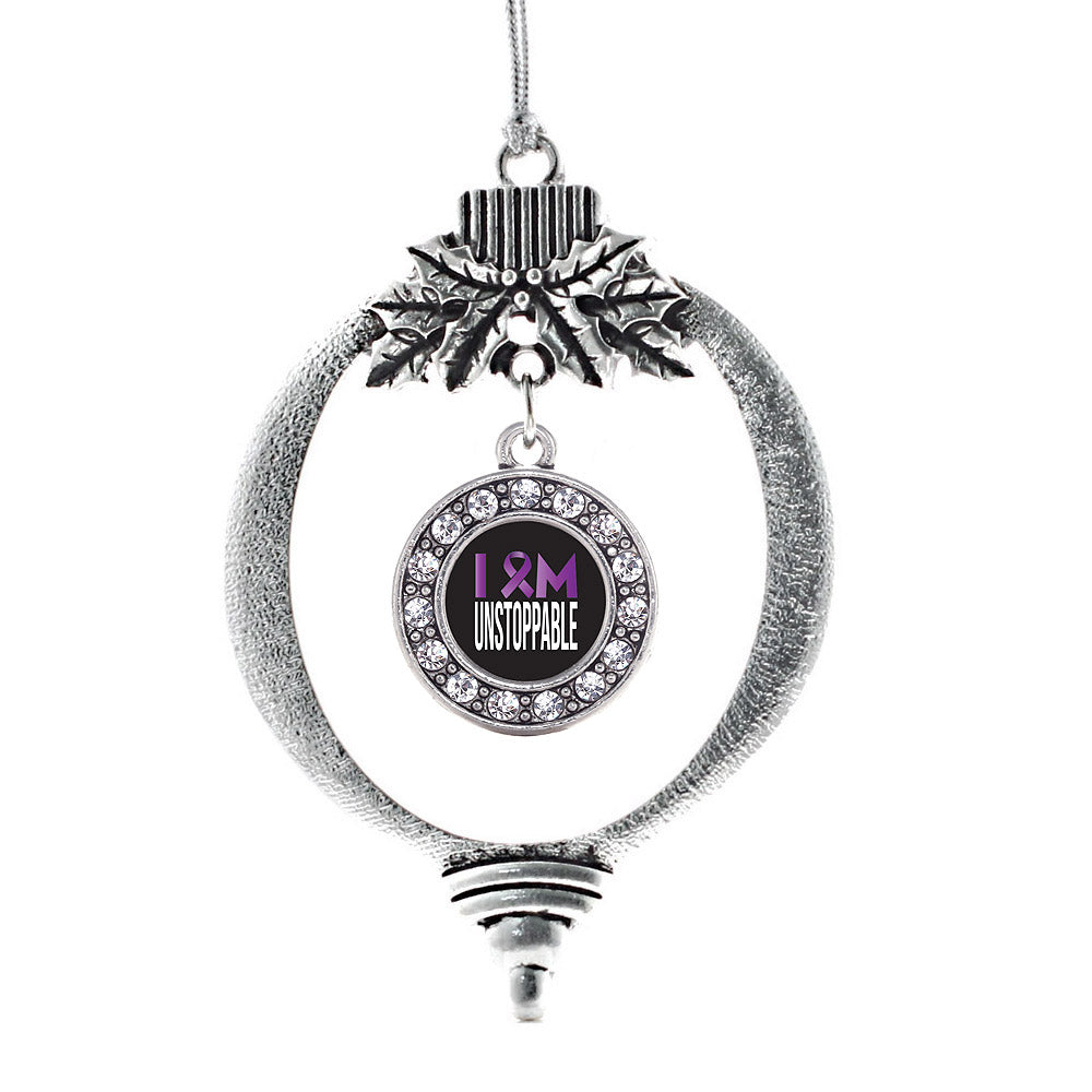 I am Unstoppable Circle Charm Christmas / Holiday Ornament