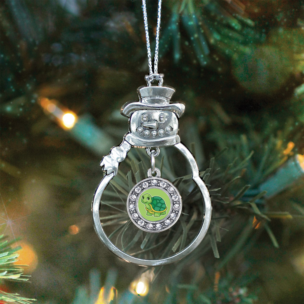 Baby Turtle Circle Charm Christmas / Holiday Ornament