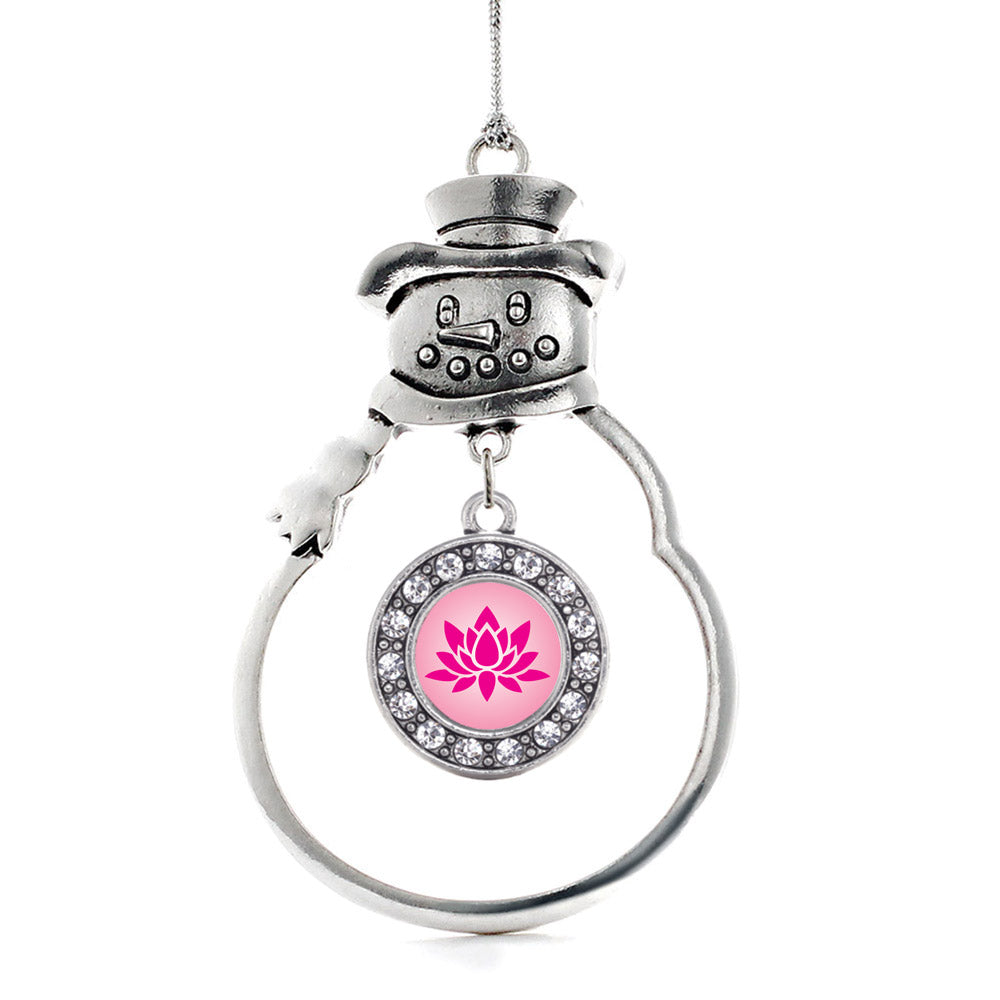 Lotus Circle Charm Christmas / Holiday Ornament