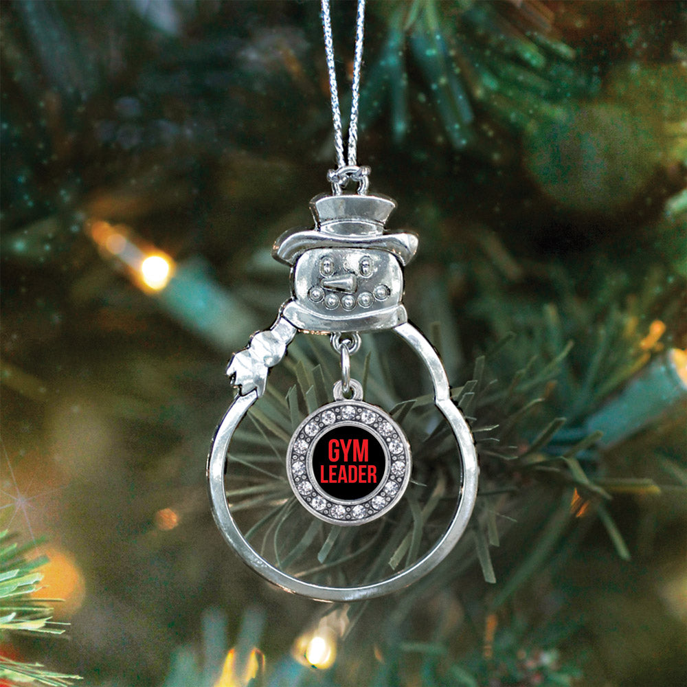 Red Gym Leader Circle Charm Christmas / Holiday Ornament
