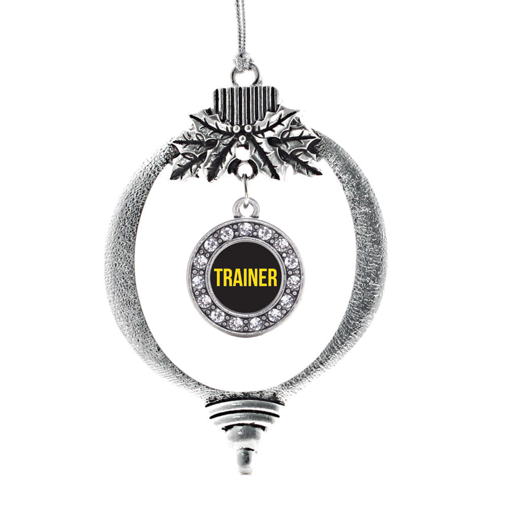 Yellow Trainer Circle Charm Christmas / Holiday Ornament
