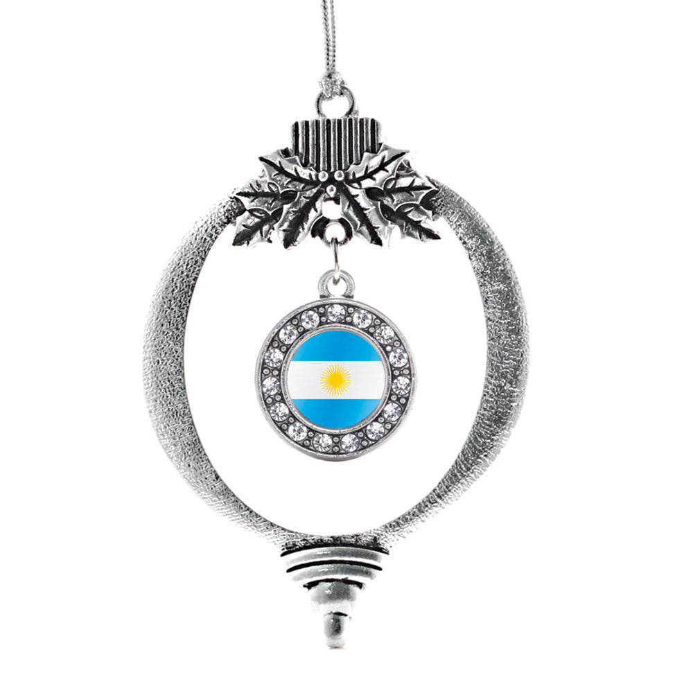Argentina Flag Circle Charm Christmas / Holiday Ornament