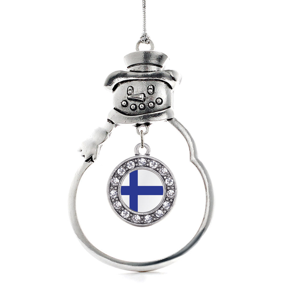 Finland Flag Circle Charm Christmas / Holiday Ornament