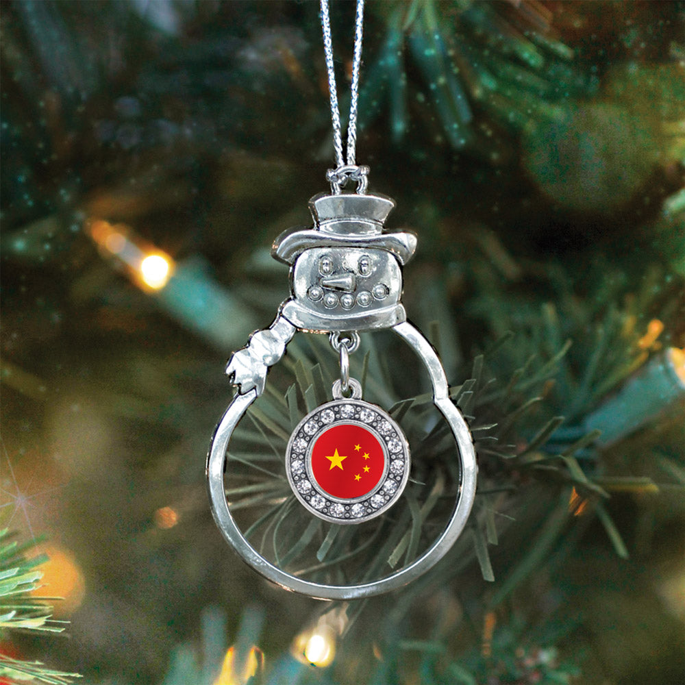 China Flag Circle Charm Christmas / Holiday Ornament