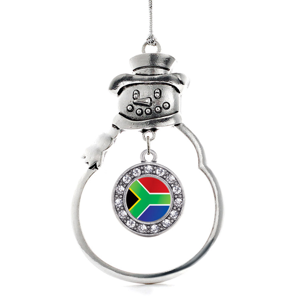 South Africa Flag Circle Charm Christmas / Holiday Ornament