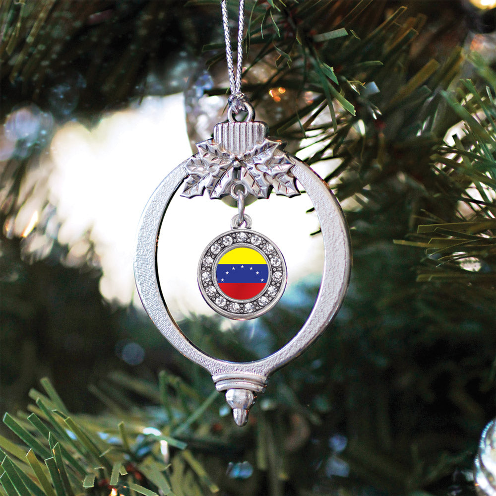 Venezuela Flag Circle Charm Christmas / Holiday Ornament