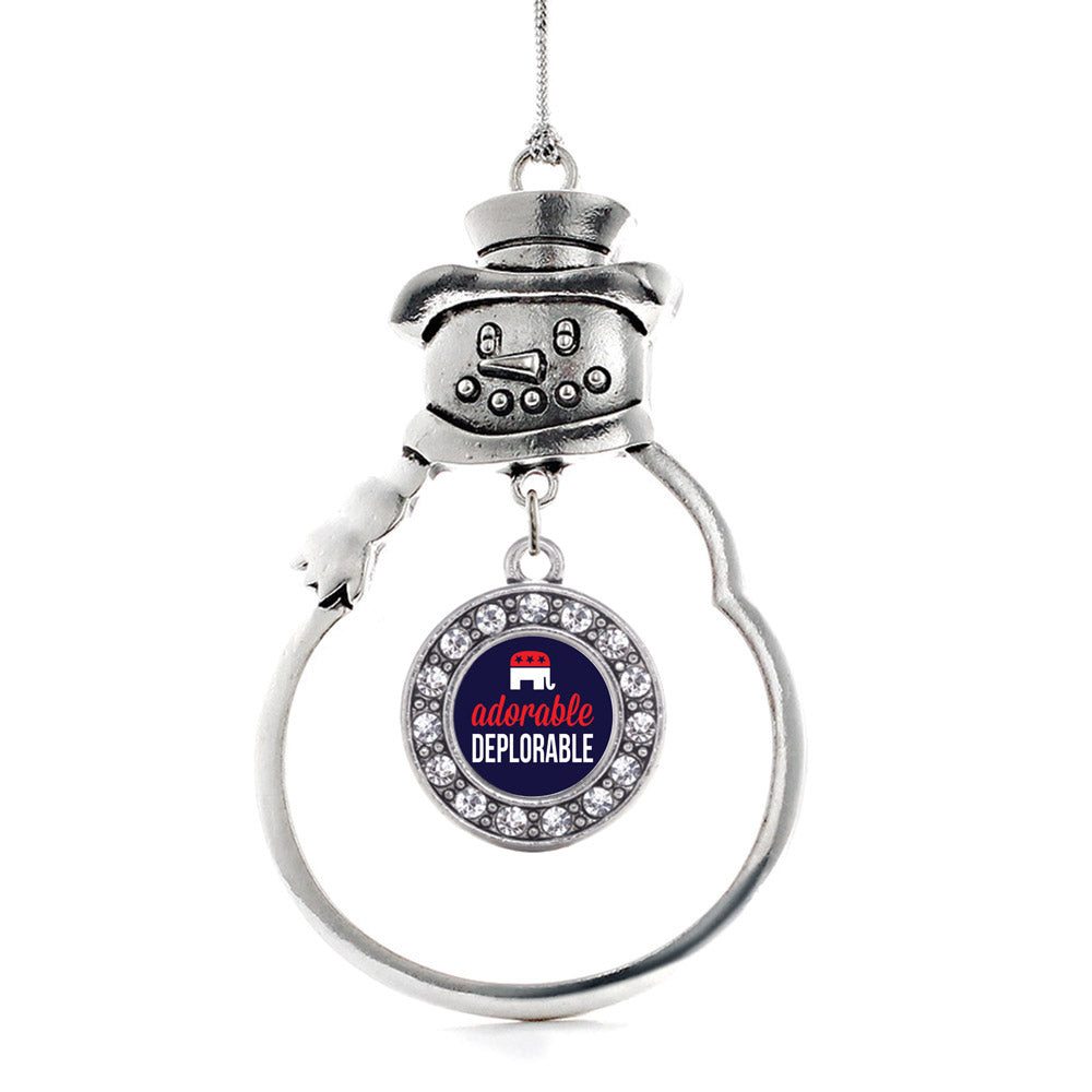Adorable Deplorable Circle Charm Christmas / Holiday Ornament