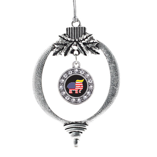 Trumpican Party Logo Circle Charm Christmas / Holiday Ornament