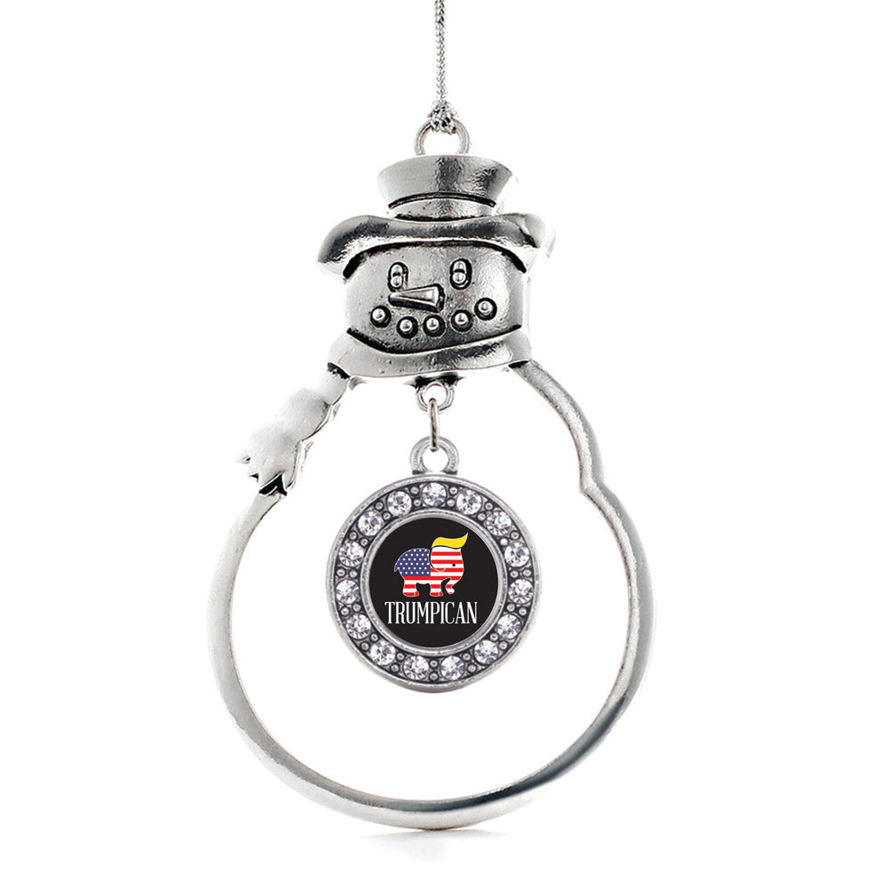 Trumpican Circle Charm Christmas / Holiday Ornament