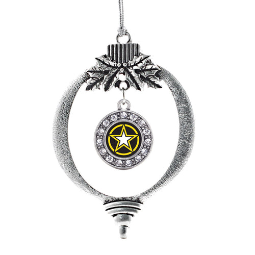 Army Star Circle Charm Christmas / Holiday Ornament
