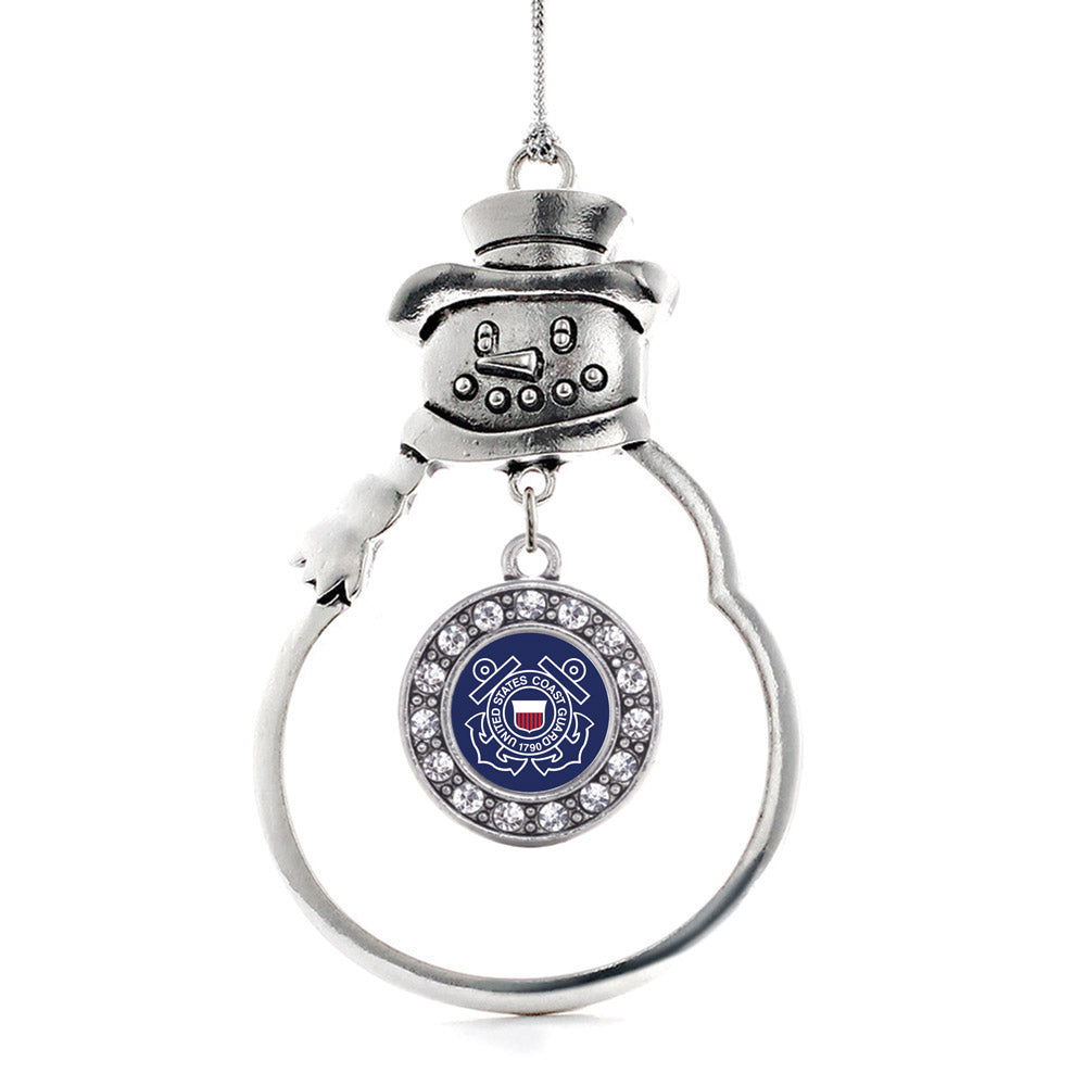 Coast Guard Symbol Circle Charm Christmas / Holiday Ornament