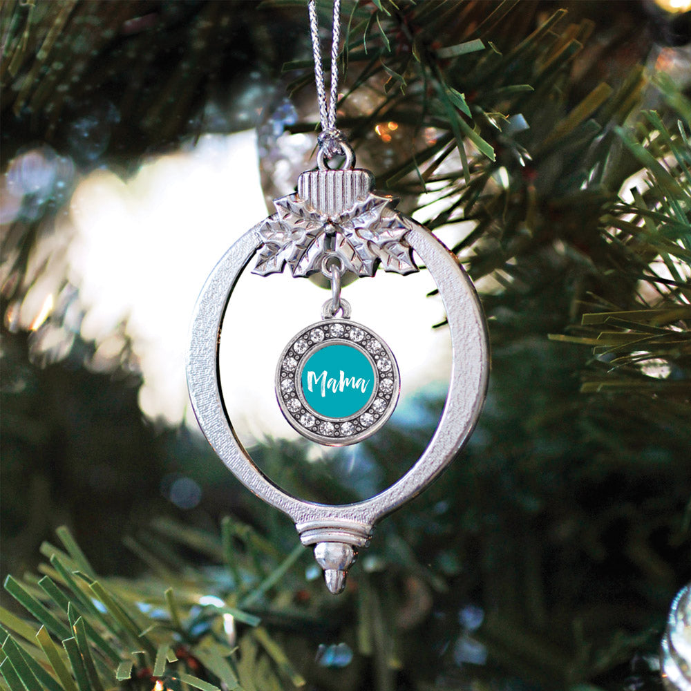 Blue Mama Circle Charm Christmas / Holiday Ornament