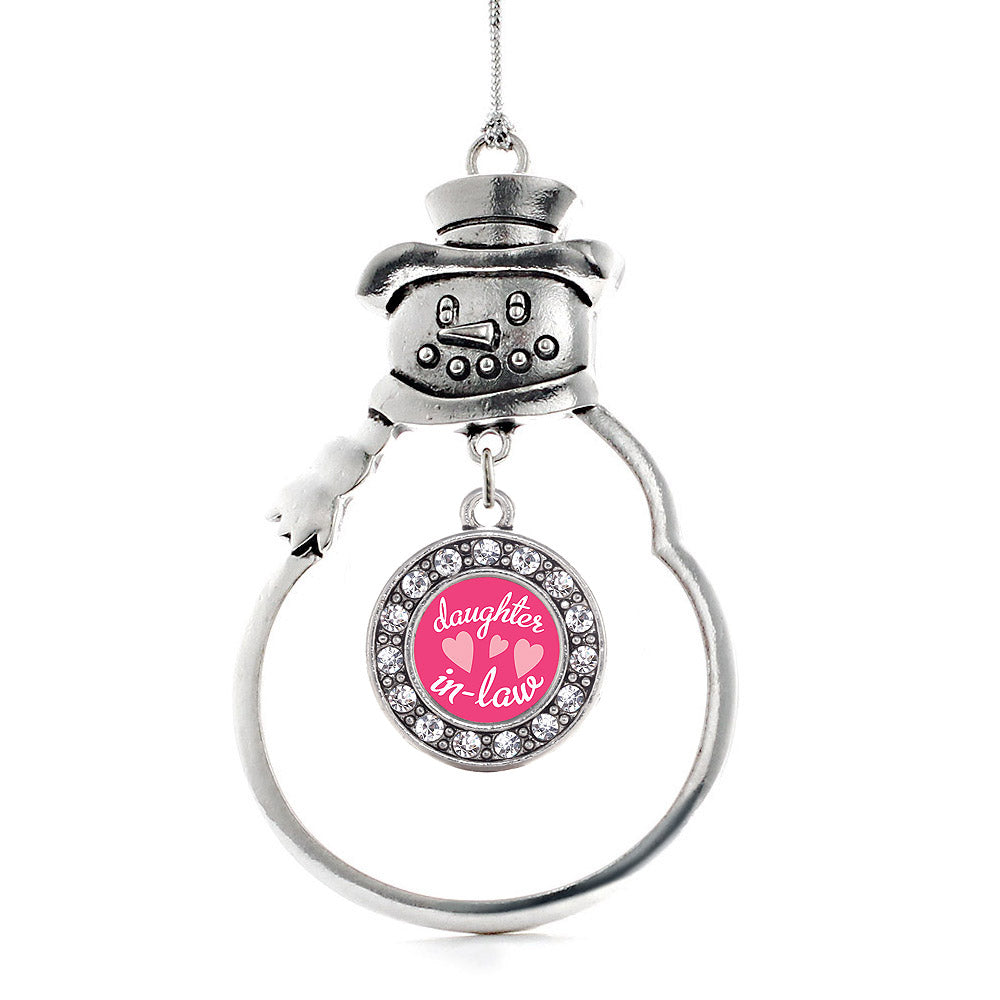 I Love My Daughter in Law Circle Charm Christmas / Holiday Ornament