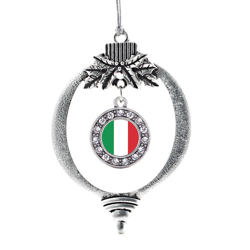 Italian Flag Circle Charm Christmas / Holiday Ornament