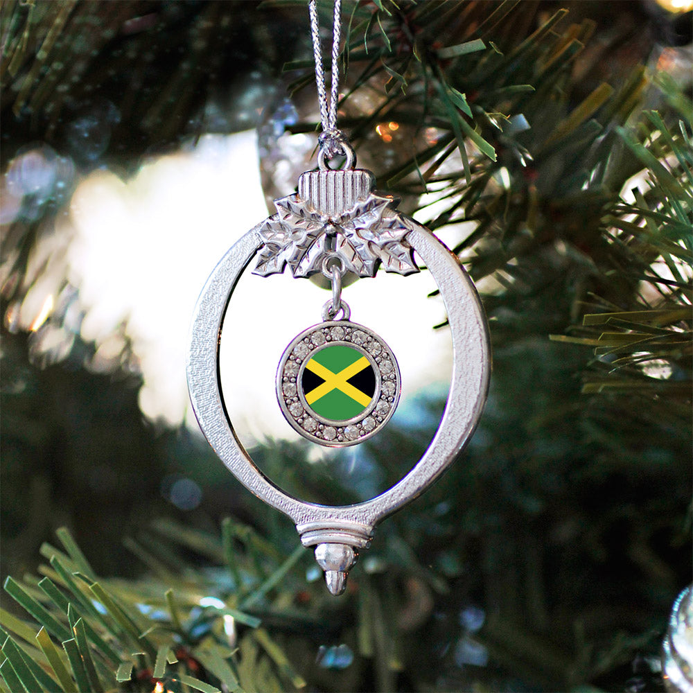 Jamaican Flag Circle Charm Christmas / Holiday Ornament