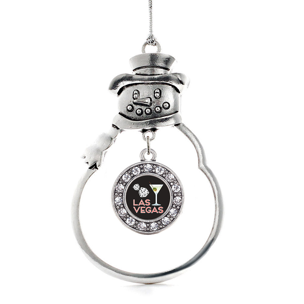 Las Vegas Circle Charm Christmas / Holiday Ornament