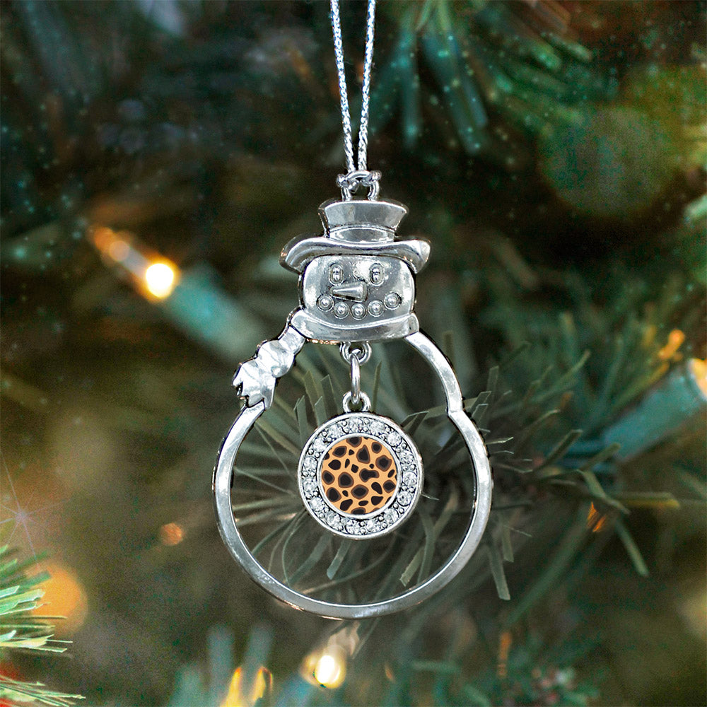 Leopard Print Circle Charm Christmas / Holiday Ornament