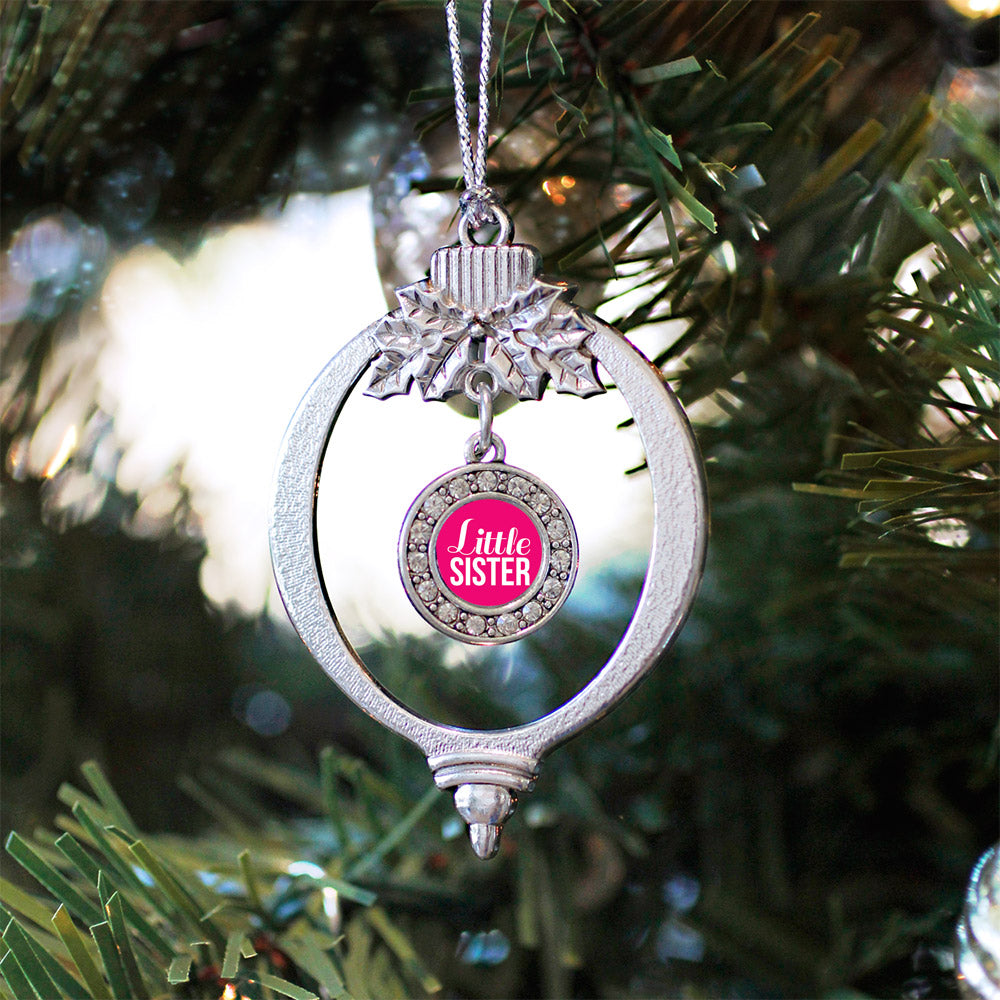 Little Sister Circle Charm Christmas / Holiday Ornament