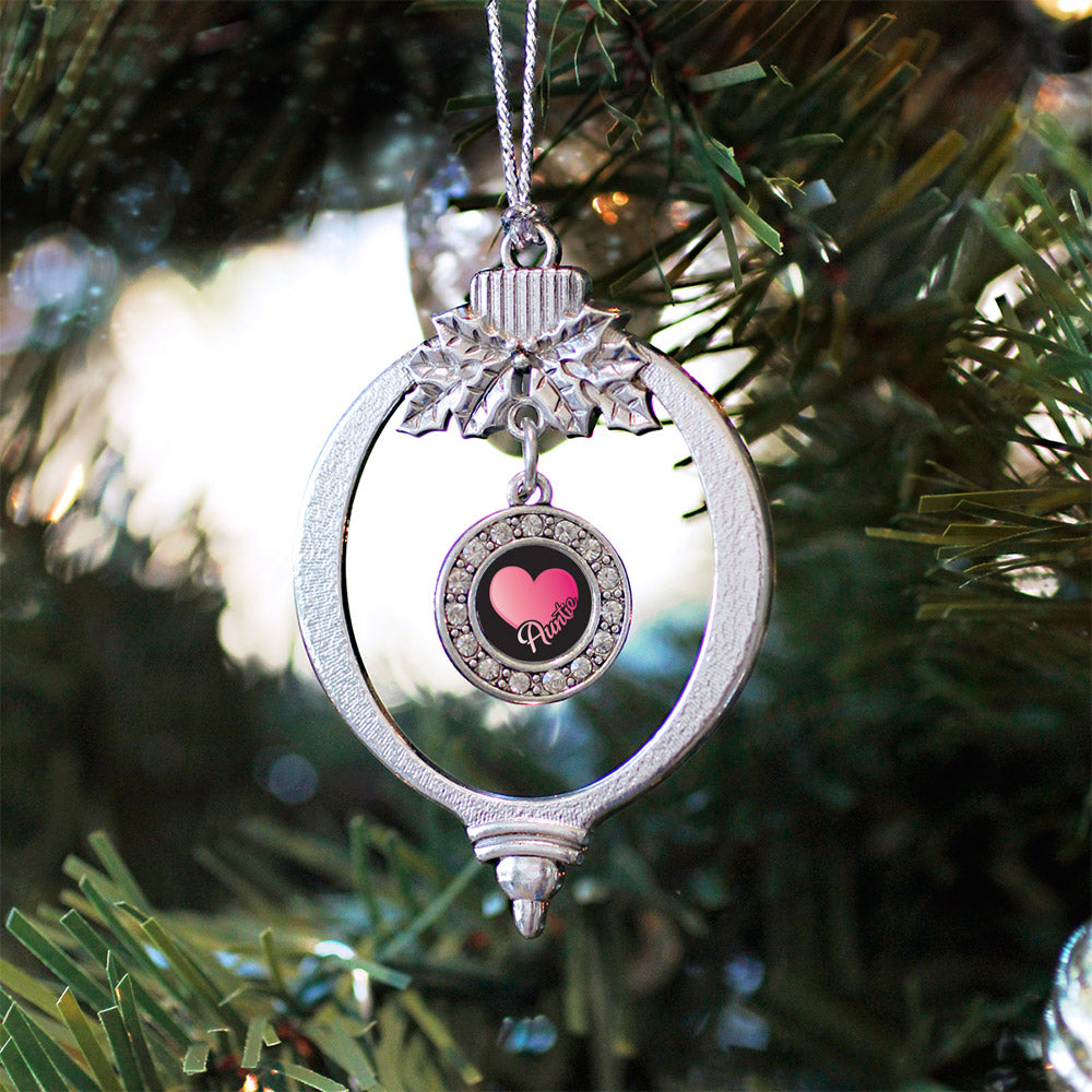 Auntie Circle Charm Christmas / Holiday Ornament