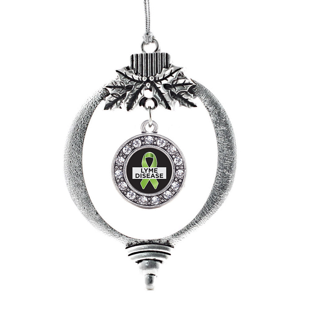 Lyme Disease Support and Awareness Circle Charm Christmas / Holiday Ornament