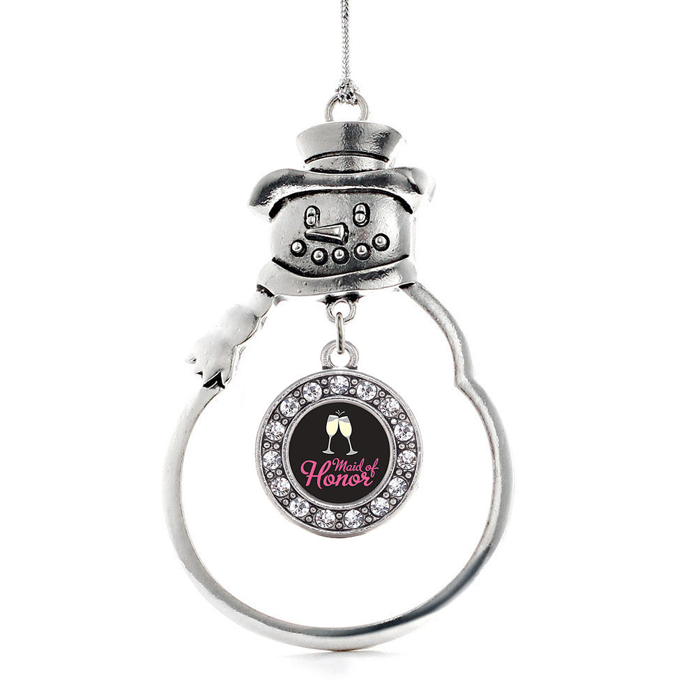 Maid of Honor Circle Charm Christmas / Holiday Ornament