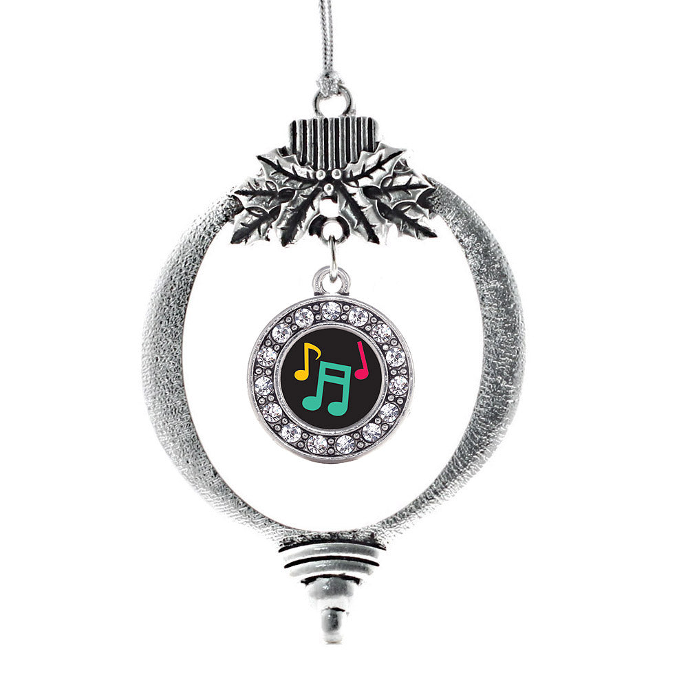 Musical Notes Circle Charm Christmas / Holiday Ornament