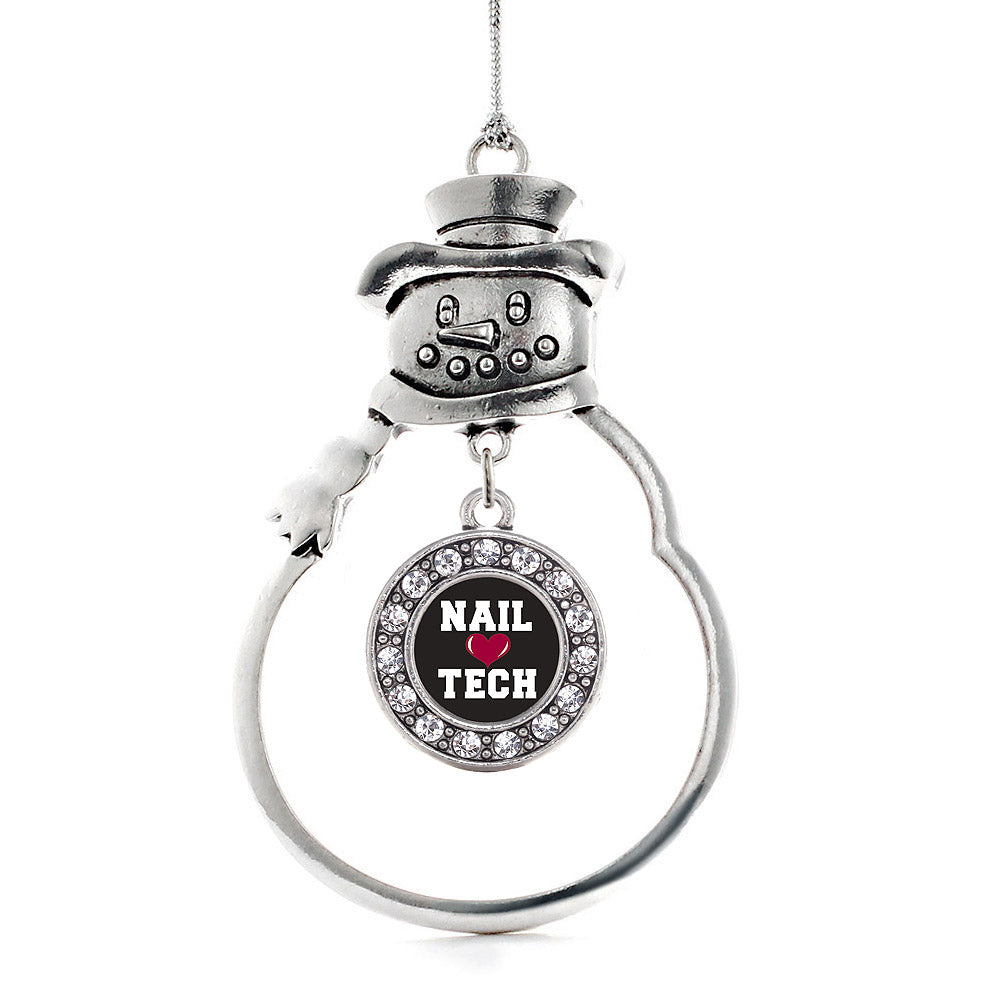 Nail Tech Circle Charm Christmas / Holiday Ornament