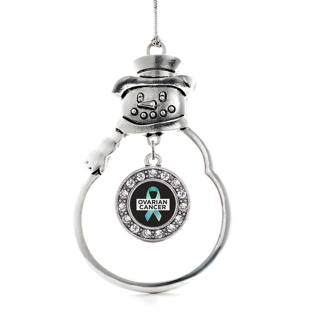 Ovarian Cancer Circle Charm Christmas / Holiday Ornament