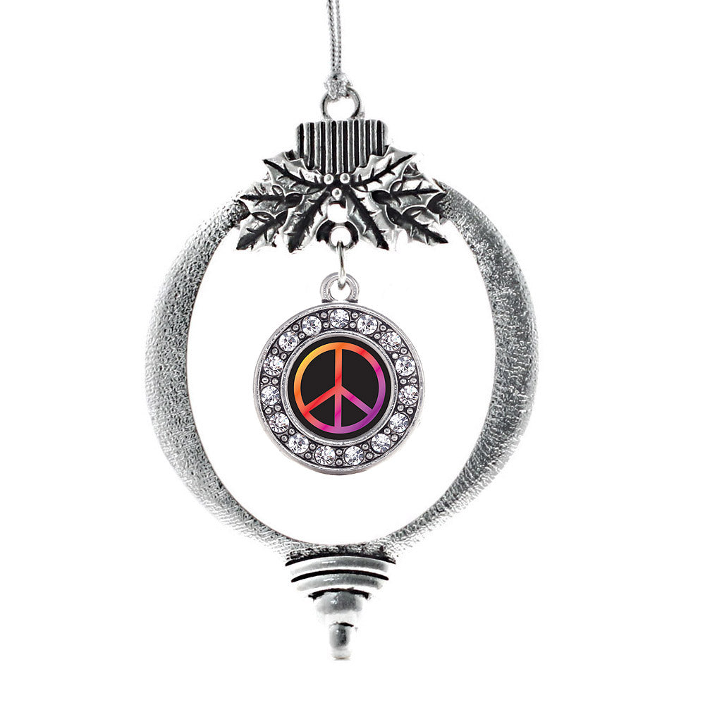 Peace Circle Charm Christmas / Holiday Ornament