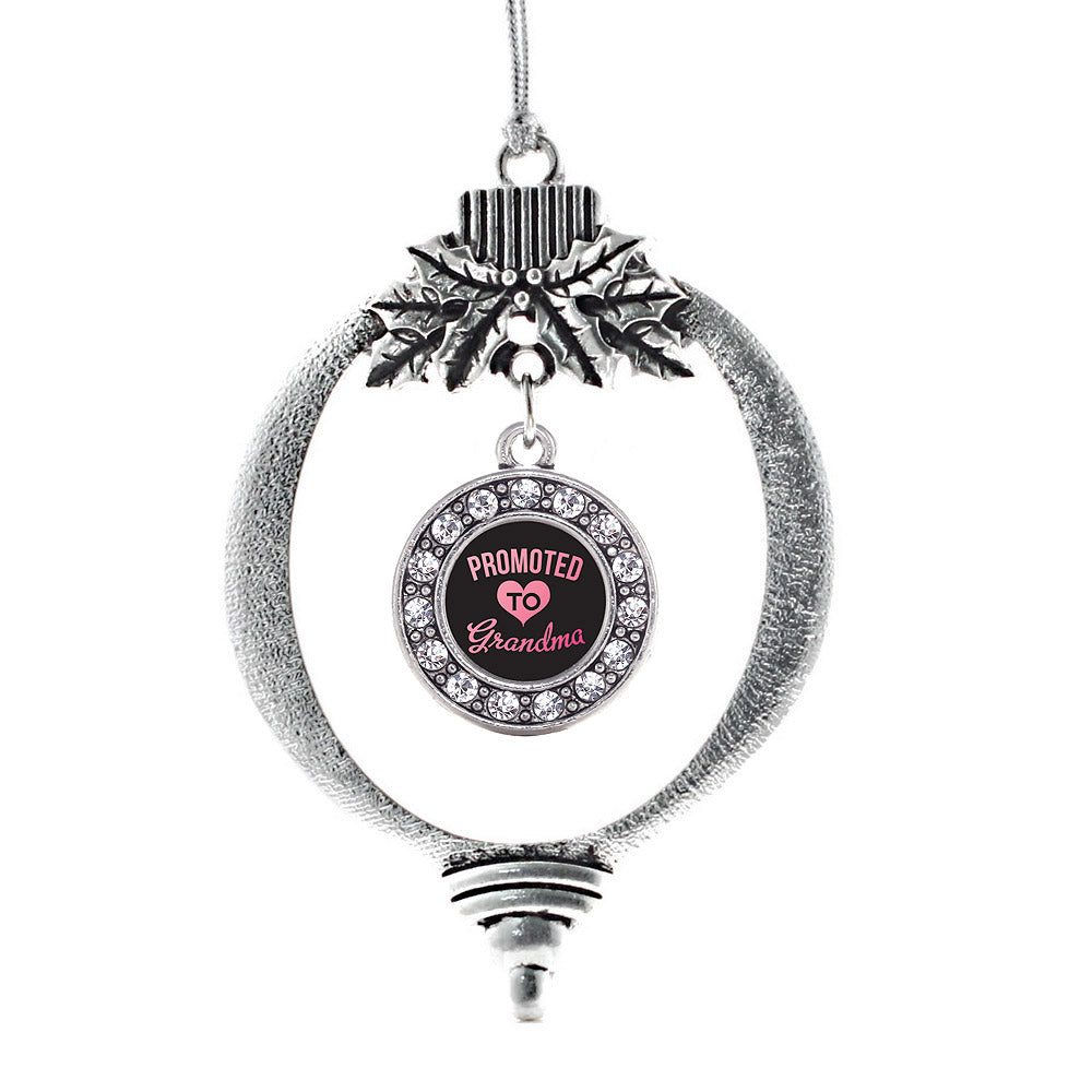 Promoted to Grandma Circle Charm Christmas / Holiday Ornament