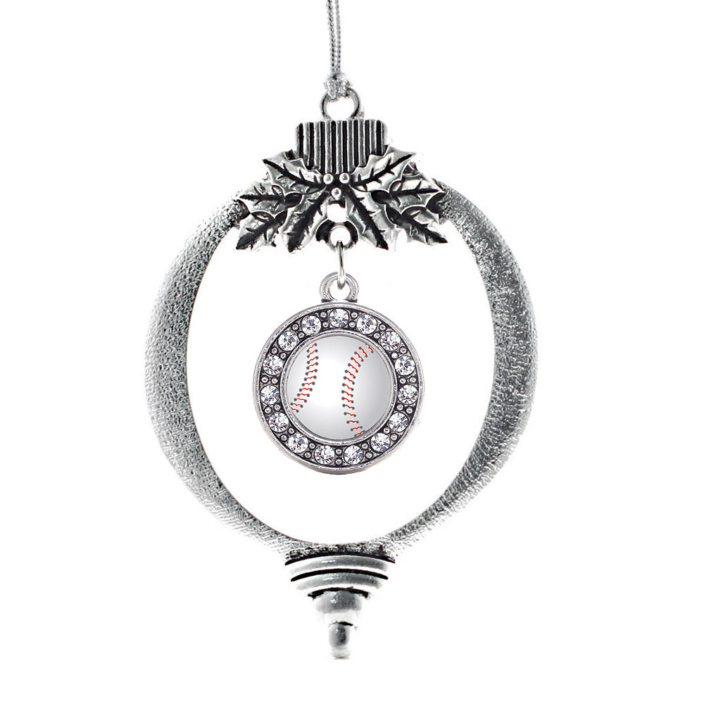 Baseball Circle Charm Christmas / Holiday Ornament