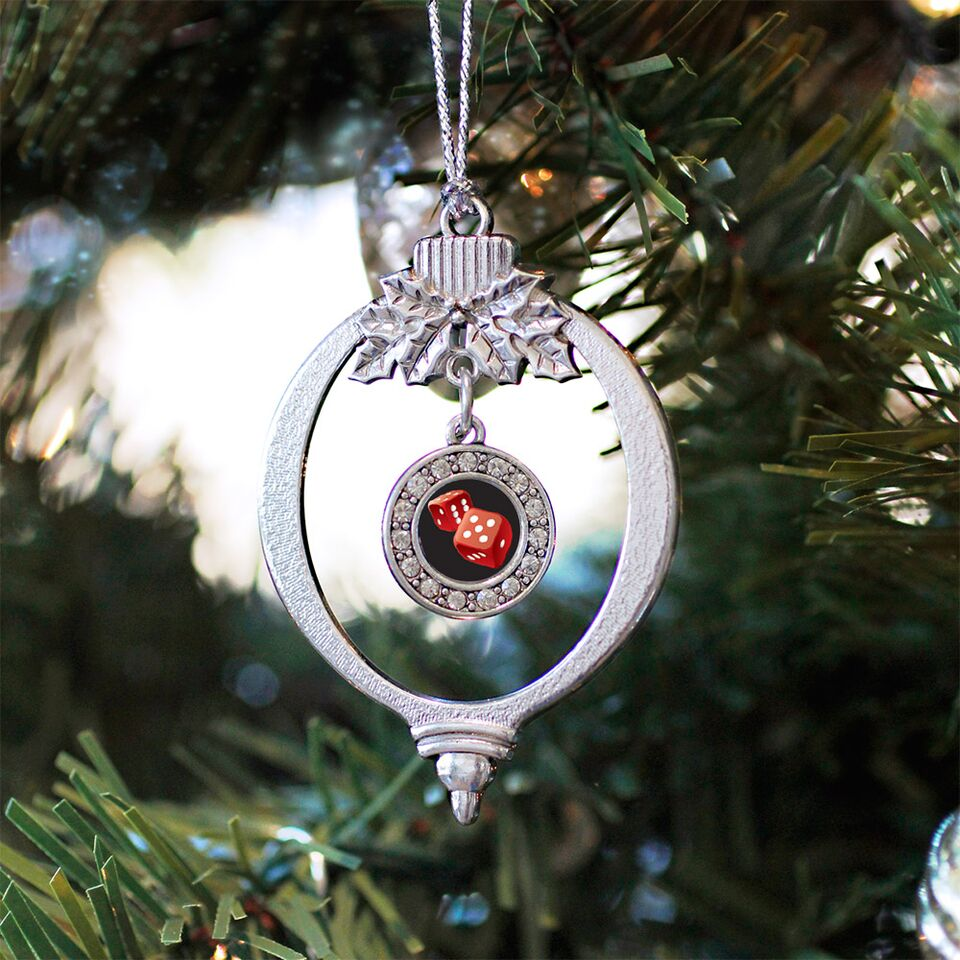 Roll the Dice Circle Charm Christmas / Holiday Ornament
