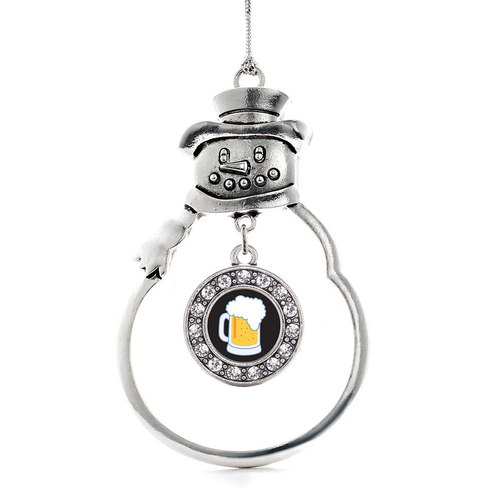 Beer Lovers Circle Charm Christmas / Holiday Ornament