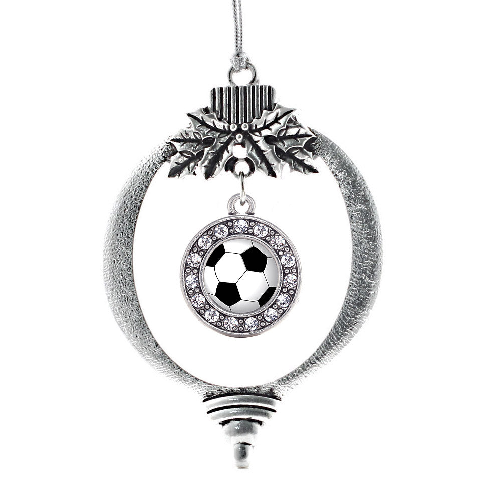 Soccer Circle Charm Christmas / Holiday Ornament