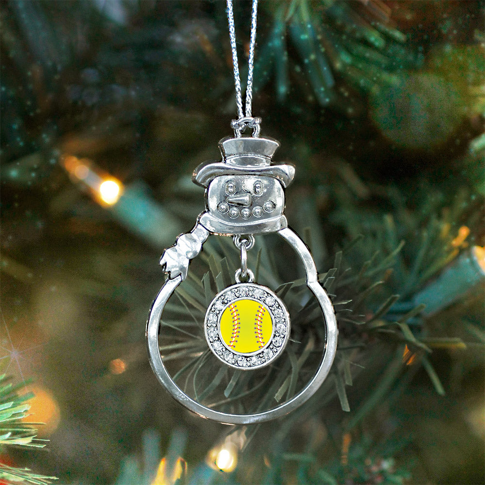 Softball Circle Charm Christmas / Holiday Ornament