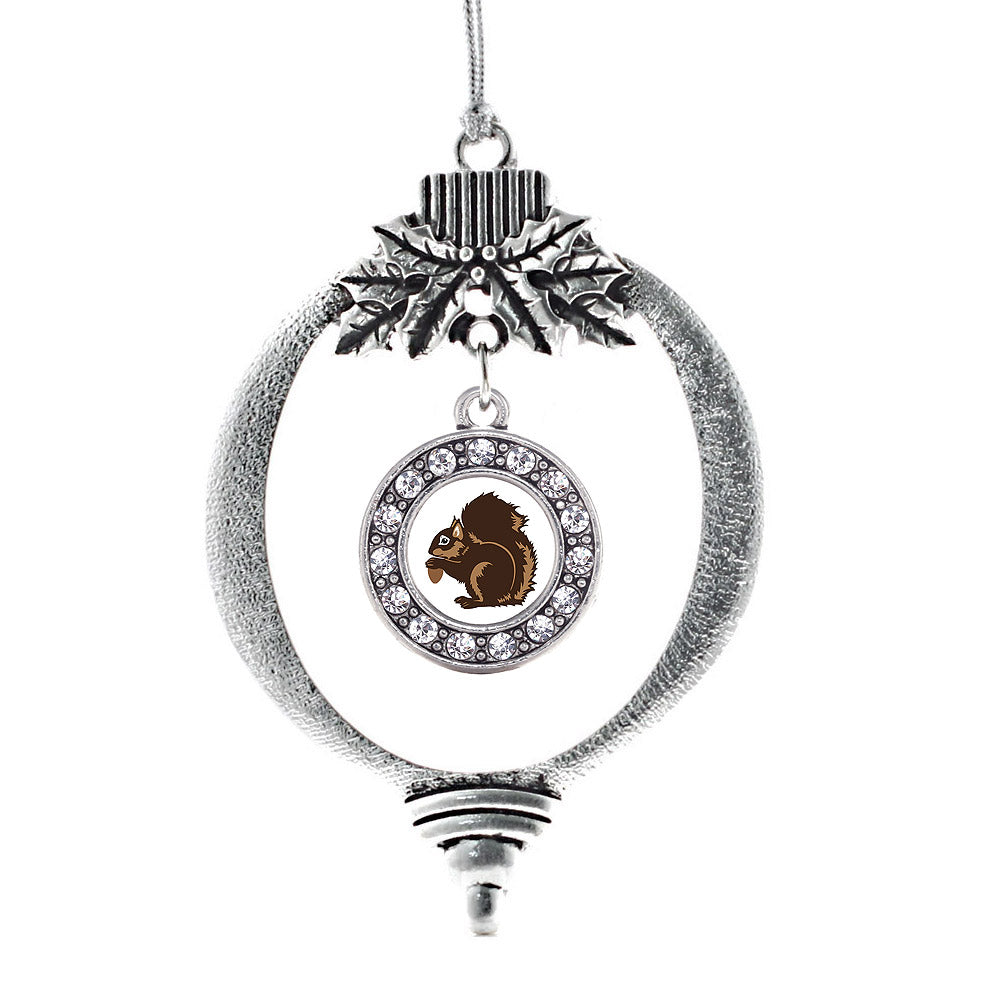 Squirrel Circle Charm Christmas / Holiday Ornament