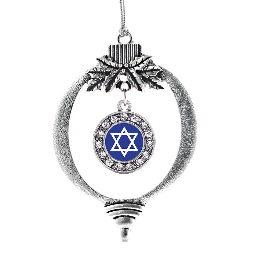 Star of David Circle Charm Christmas / Holiday Ornament