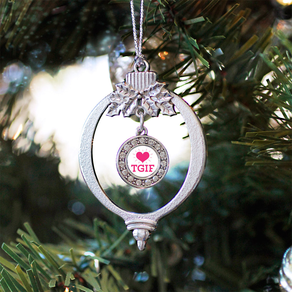 TGIF Circle Charm Christmas / Holiday Ornament