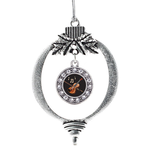 Violin Circle Charm Christmas / Holiday Ornament