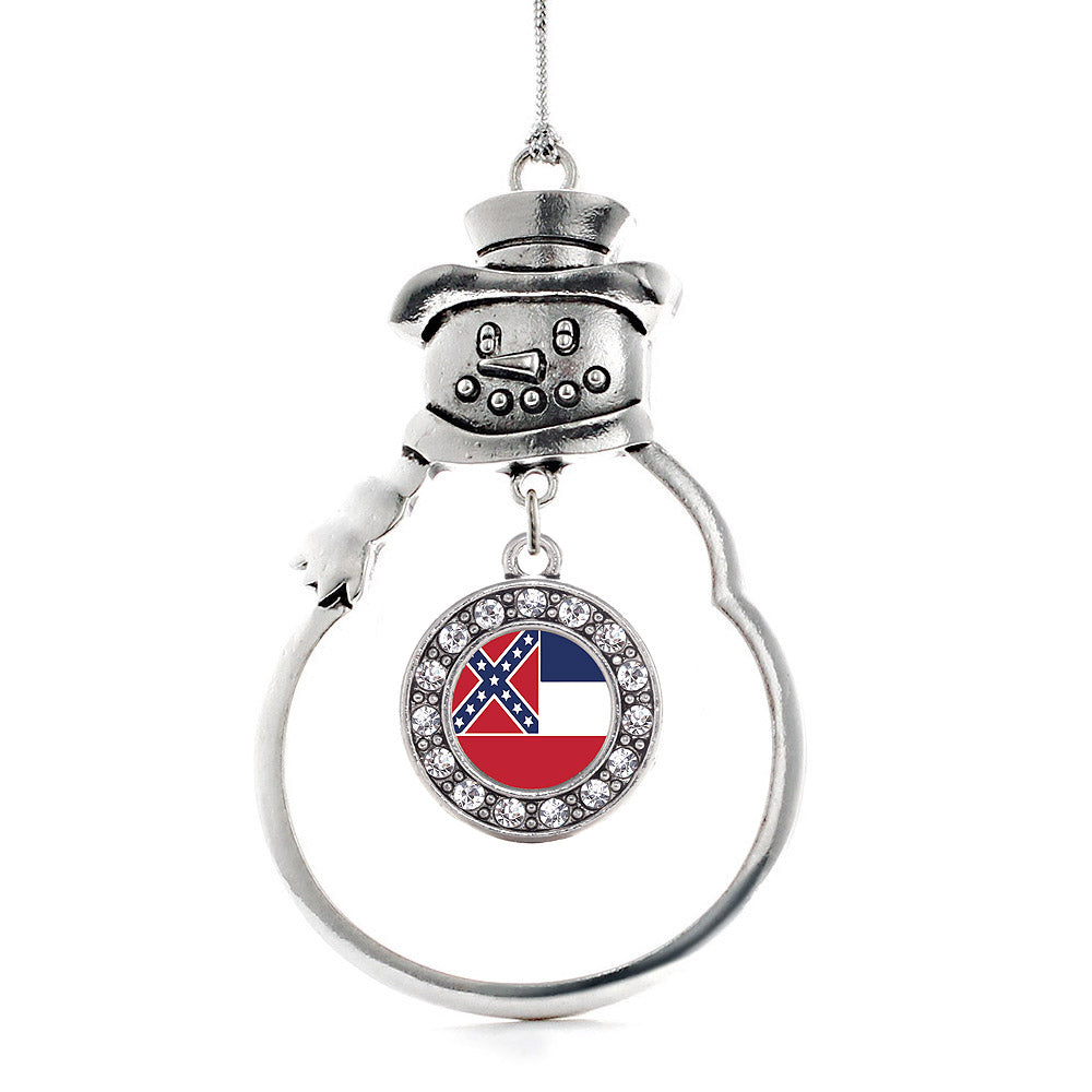 Mississippi Flag Circle Charm Christmas / Holiday Ornament