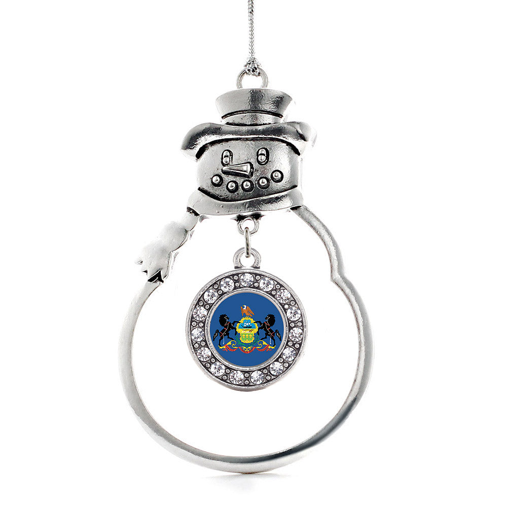 Pennsylvania Flag Circle Charm Christmas / Holiday Ornament