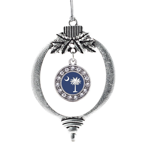 South Carolina Flag Circle Charm Christmas / Holiday Ornament