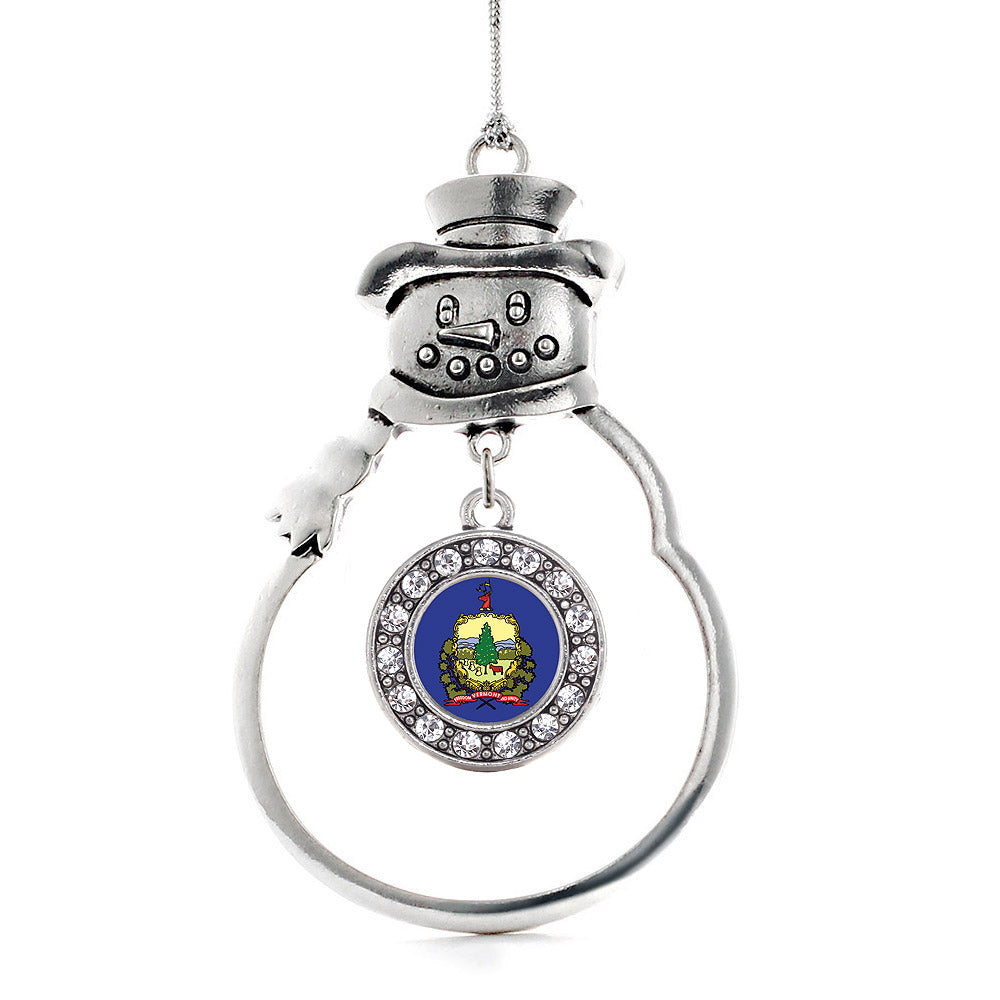 Vermont Flag Circle Charm Christmas / Holiday Ornament