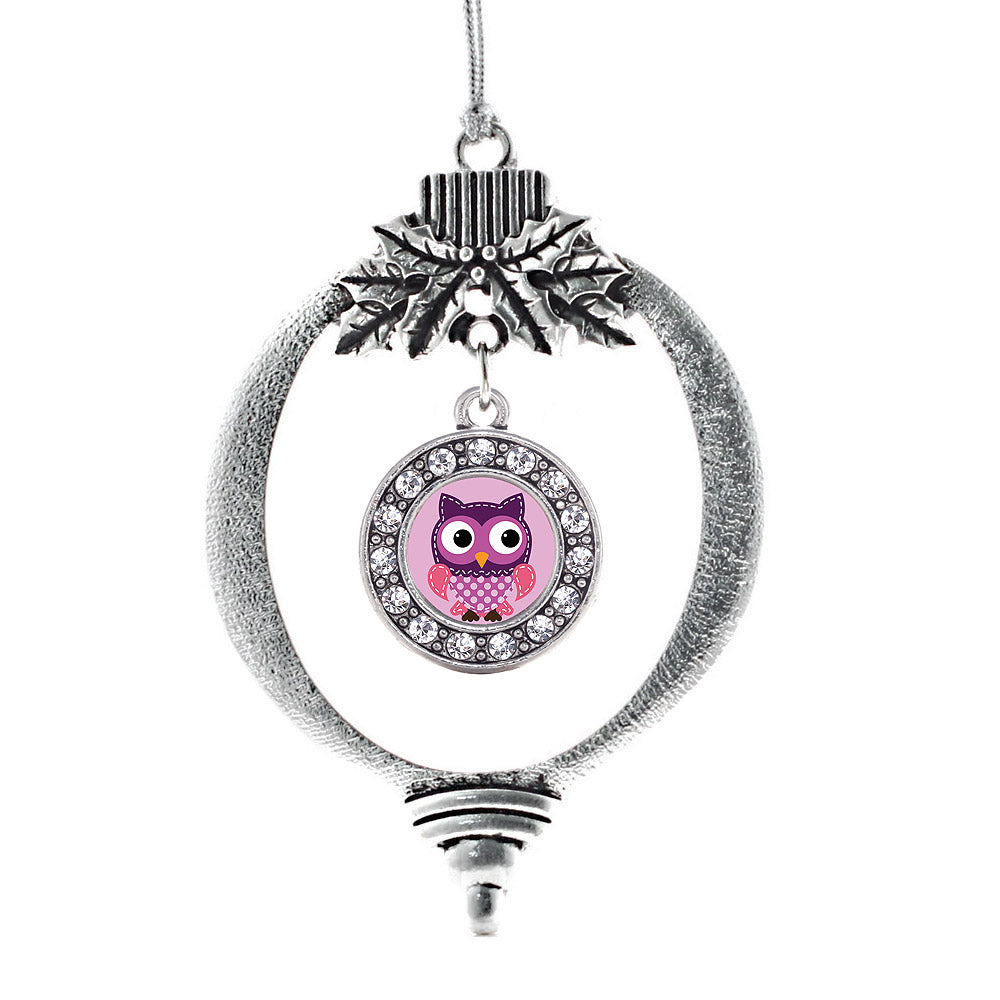 Cute Owl Circle Charm Christmas / Holiday Ornament