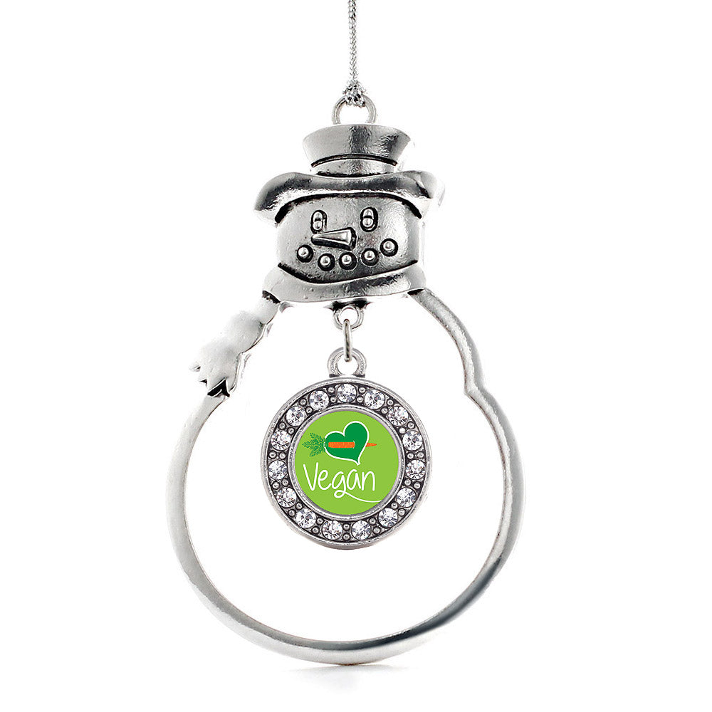 Vegan Circle Charm Christmas / Holiday Ornament