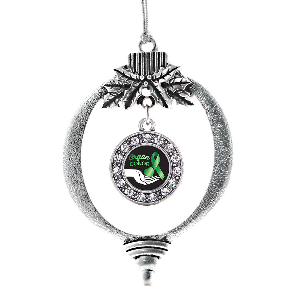 Organ Donor Circle Charm Christmas / Holiday Ornament