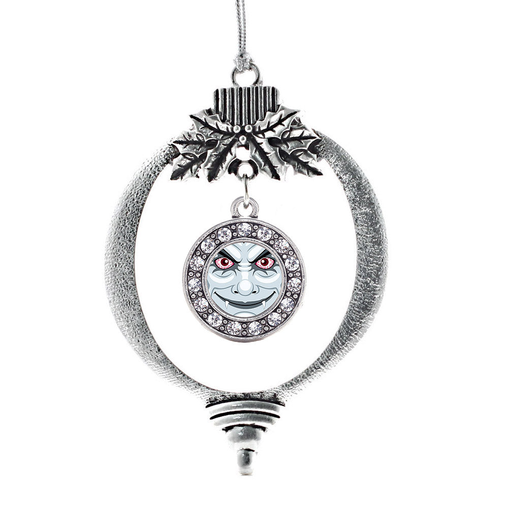 Thirsty Vampire Circle Charm Christmas / Holiday Ornament