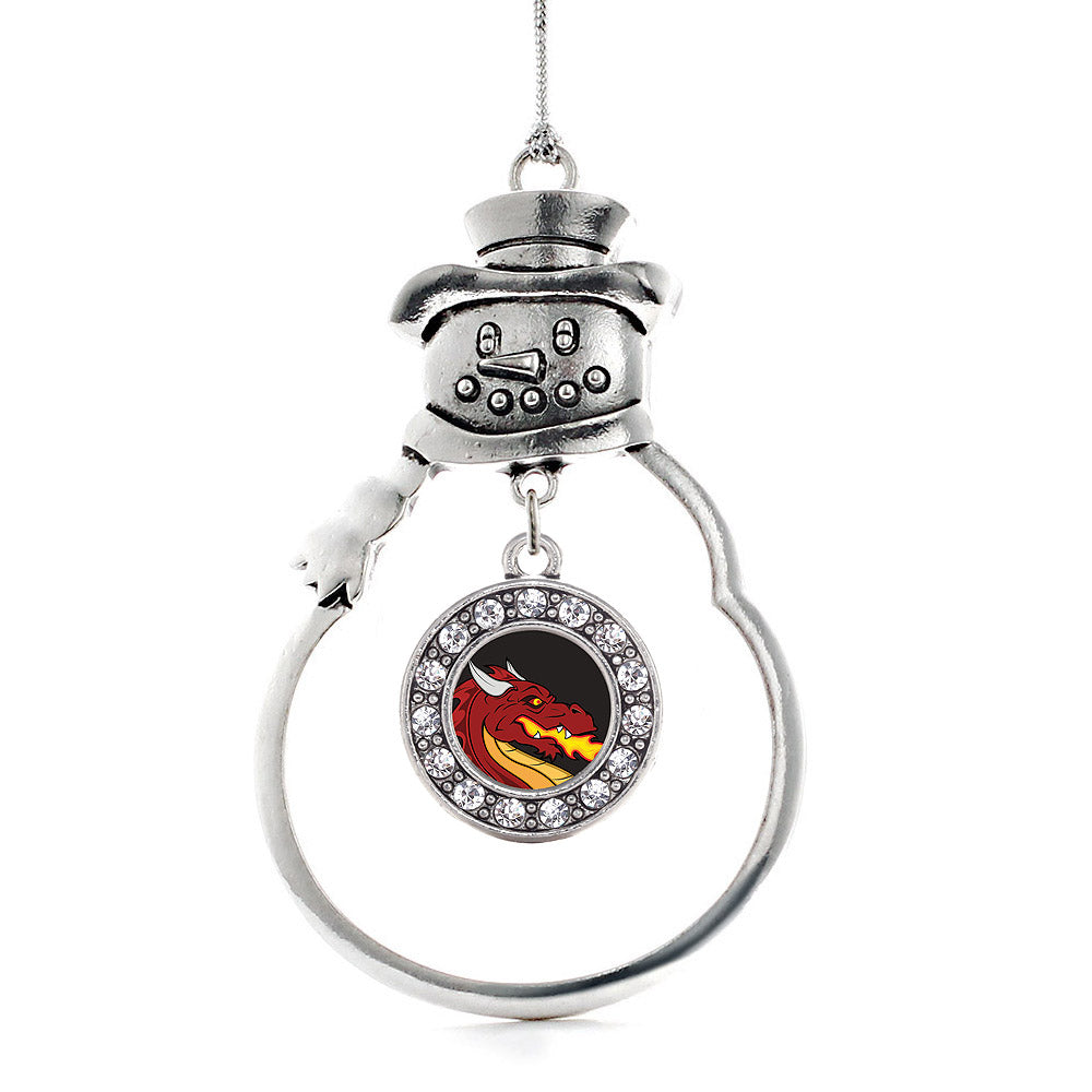 Fire Breathing Dragon Circle Charm Christmas / Holiday Ornament