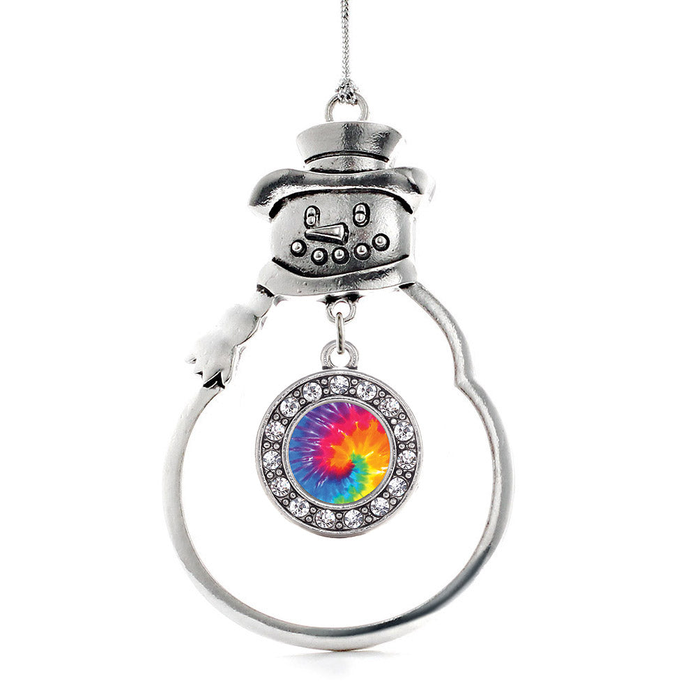Tie Dye Circle Charm Christmas / Holiday Ornament