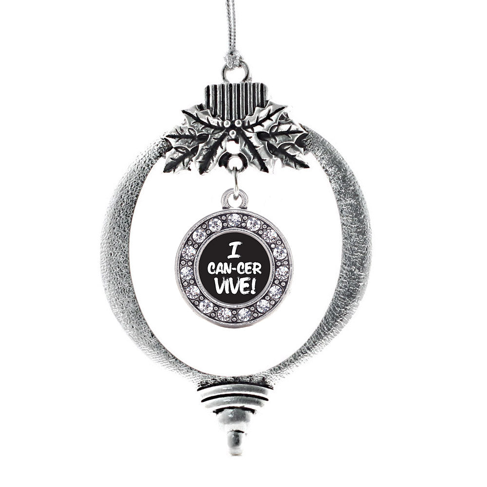 I Can-Cer-Vive Circle Charm Christmas / Holiday Ornament